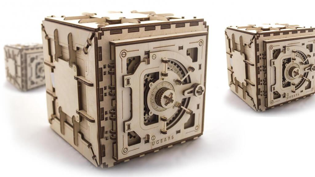 Modellino mini cassaforte a combinazione meccanica